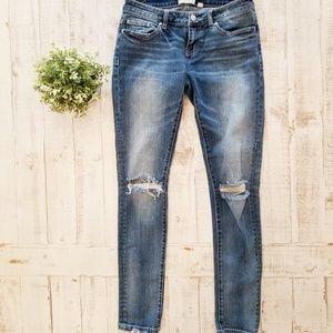 BKE Stella Skinny Ripped Knee Jeans